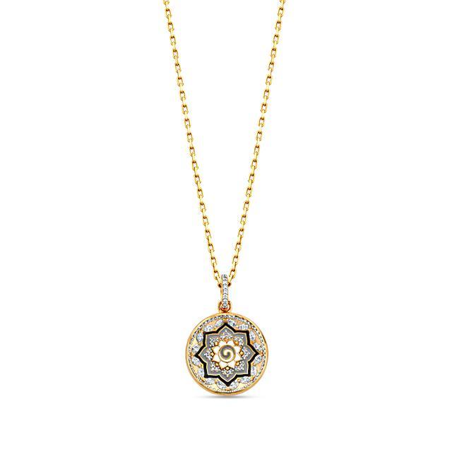 Swoonery-20K Mandala Dome Pendant