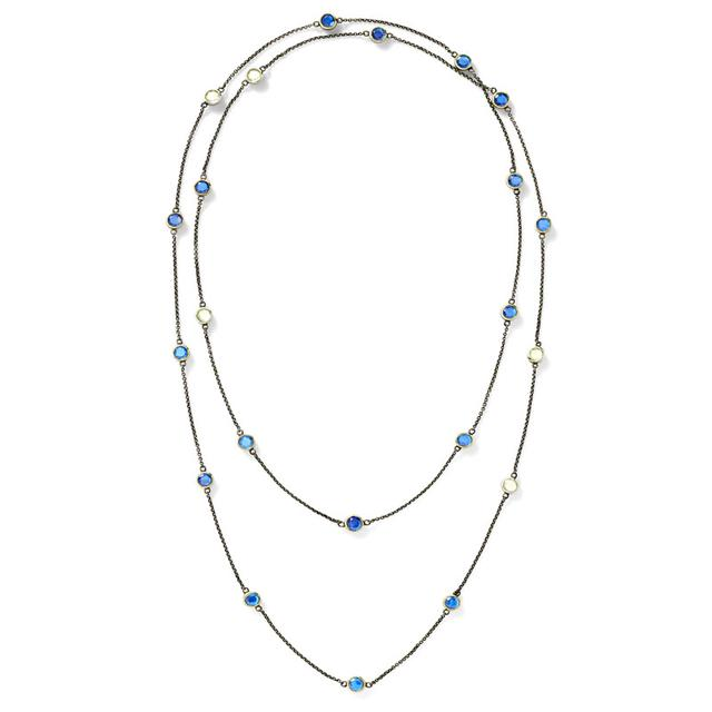 Swoonery-Green and Blue Topaz Necklace