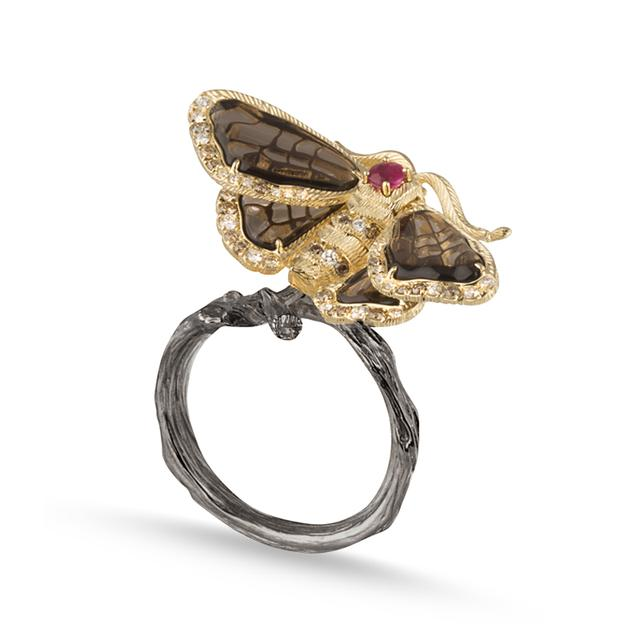 Swoonery-Moth Ring