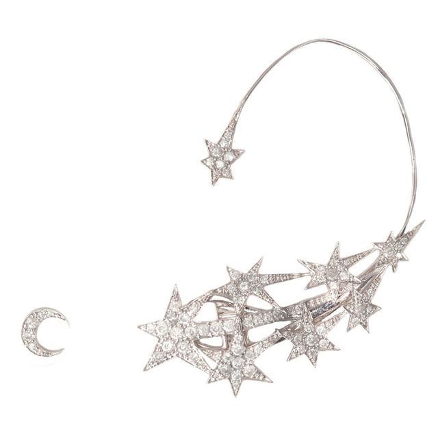 Swoonery-Stars Earring Cuff