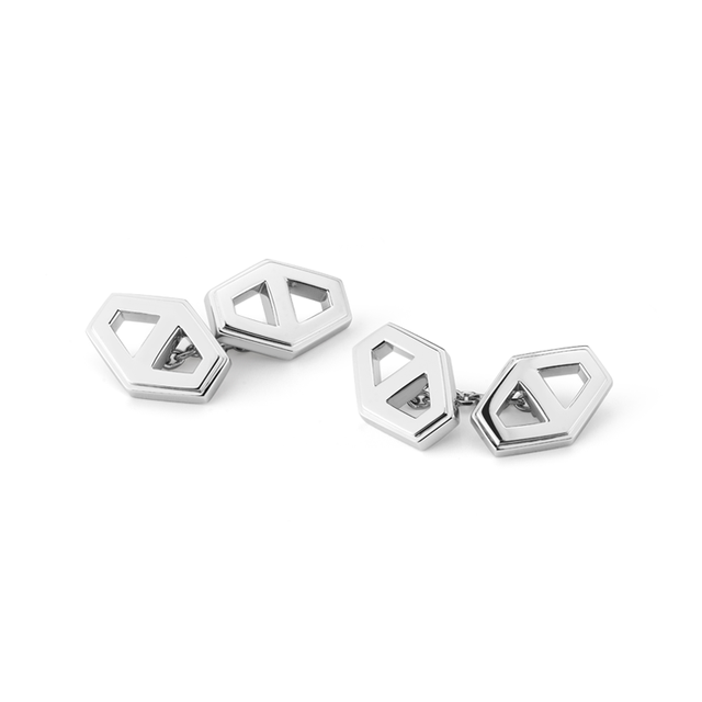 Swoonery-Keynes Signature Hexagon Cufflinks