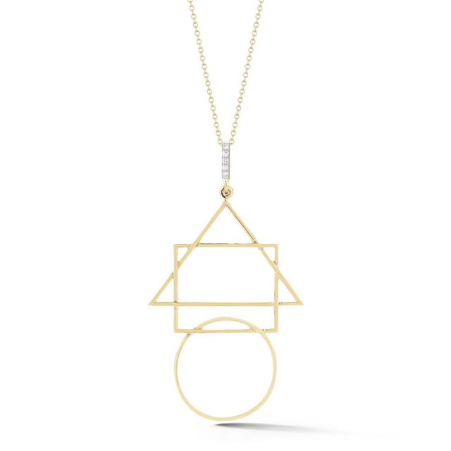 Swoonery-Geometric Pendant with Diamond Bar