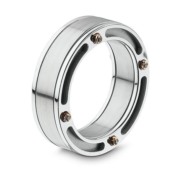 Swoonery-Titanium Bridge Ring