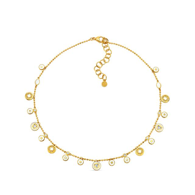 Swoonery-20K Dainty Coin Necklace