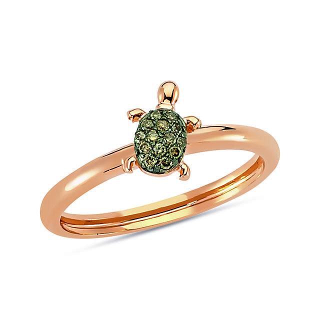 Swoonery-Aqua Light Turtle Ring