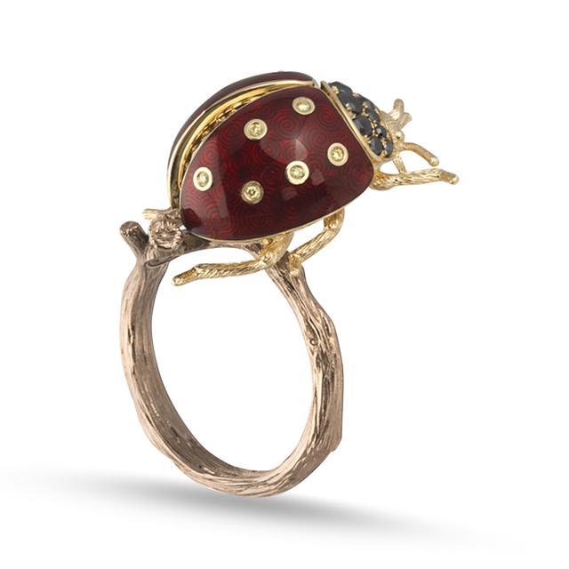 Swoonery-Ladybug Ring