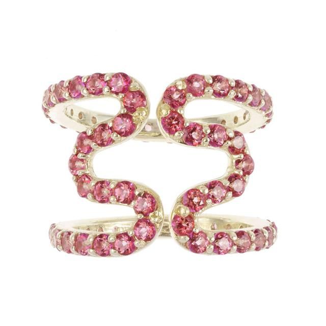 Swoonery-Wiggly Ring in Pink