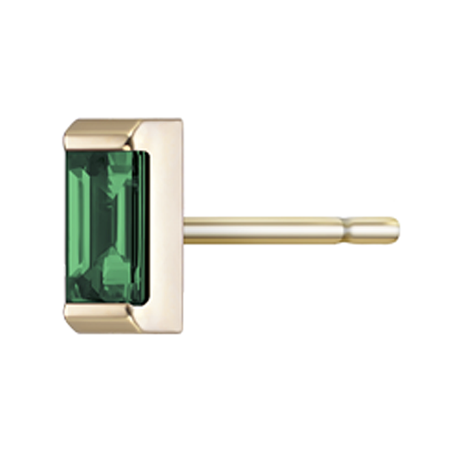 Swoonery-Gaia Emerald Stud