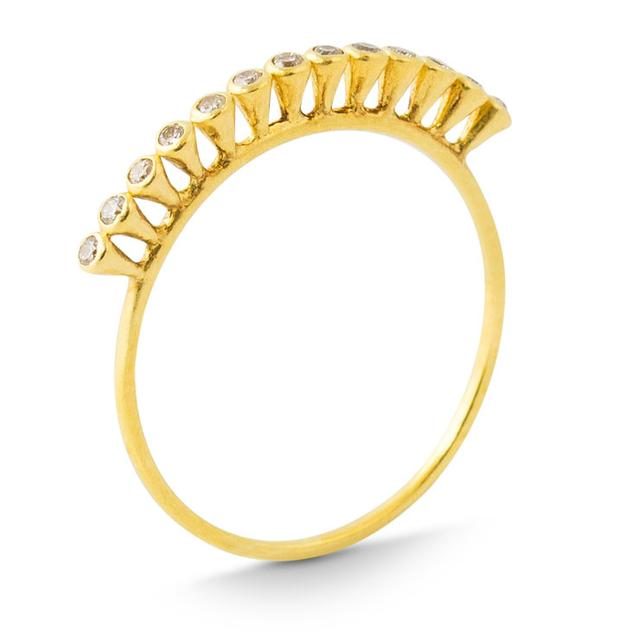 Swoonery-GOLD BUBBLE RING