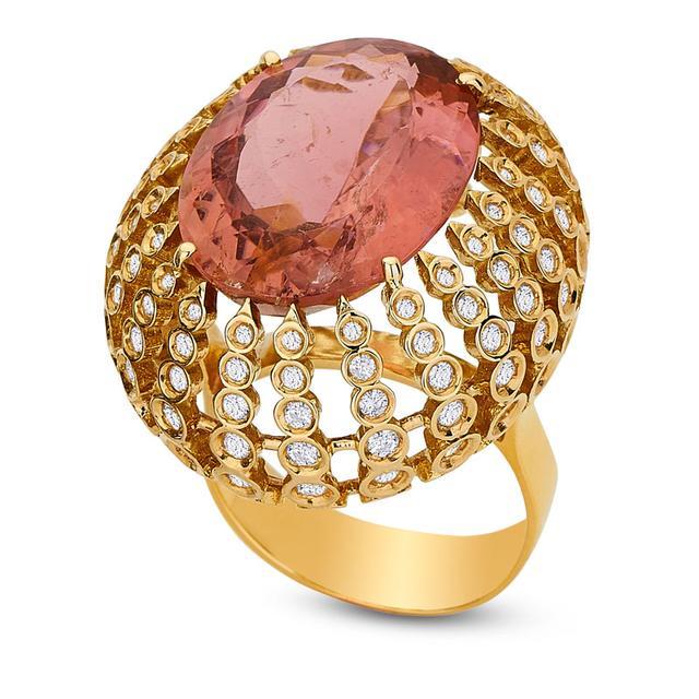 Swoonery-Petit Pois Ring - Pink Tourmaline