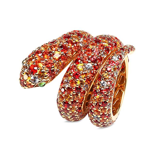 Swoonery-Orange Snake Ring
