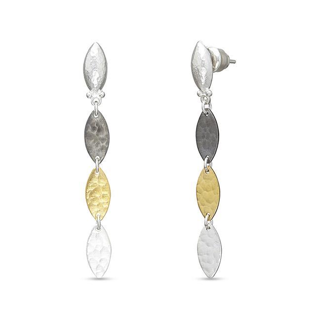 Swoonery-Willow Dangle Sterling Silver Earrings