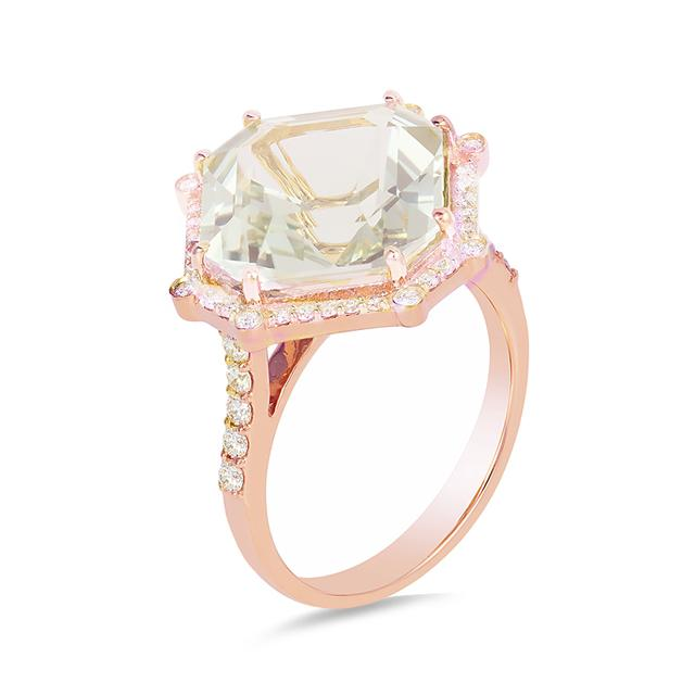 Swoonery-Gossip Emerald Cut Ash Ring