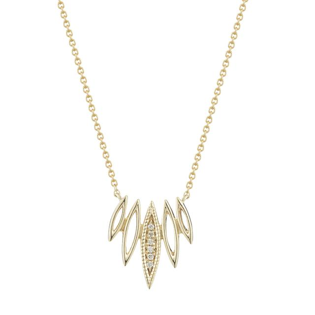 Swoonery-Lori Paige Cutout Marquise Necklace