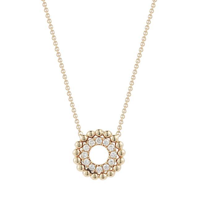 Swoonery-Poppy Rae Pebbled Circle Necklace