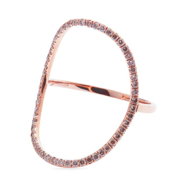 Swoonery-Oval ring pave