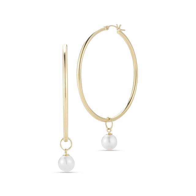 Swoonery- Simple Hoop 3 with Detachable Pearl