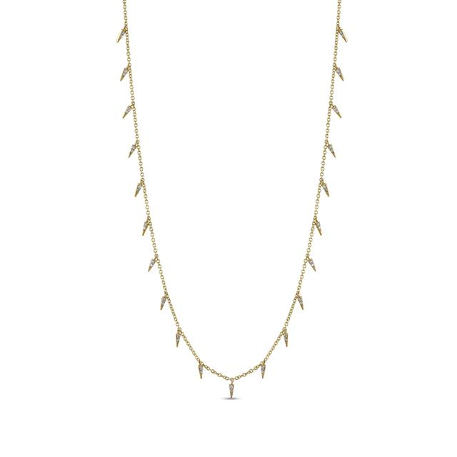 Swoonery-Pave Fringe Drop Necklace