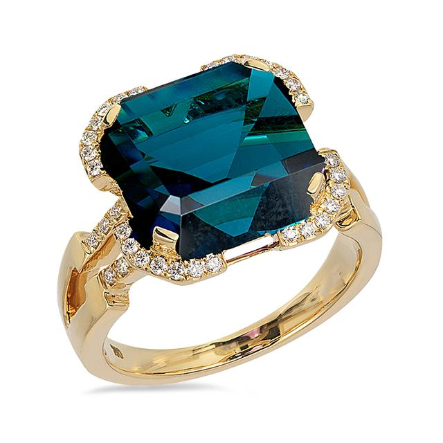Swoonery-Gossip Collection Emerald Cut Ring With Topaz