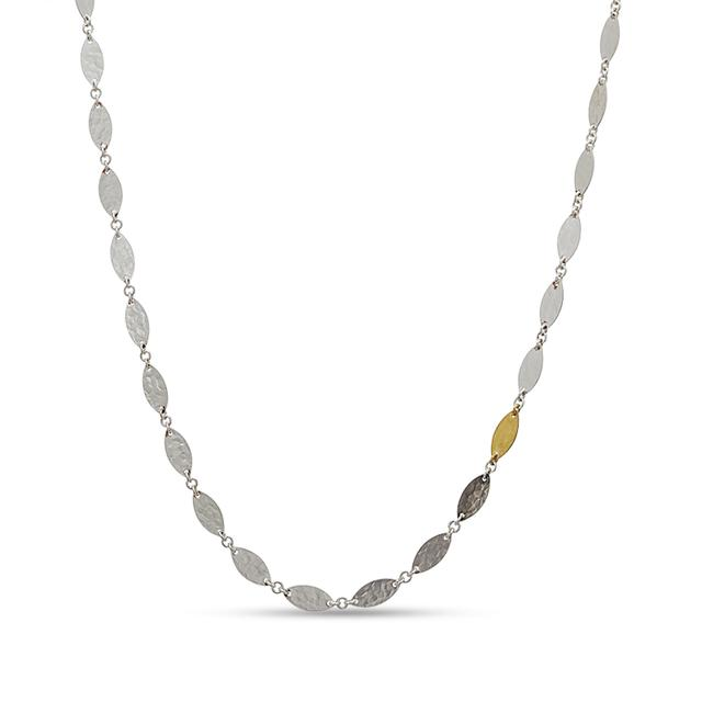 Swoonery-Tri-Color Willow Flake Necklace