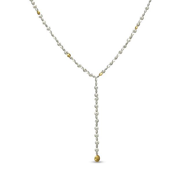 Swoonery-Lentil Sterling Silver Lariat Necklace