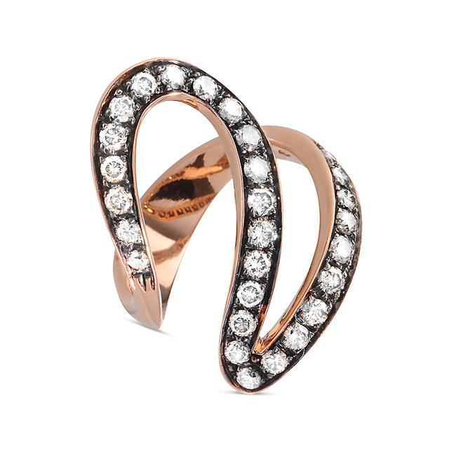 Swoonery-Burnished Rose Gold Ivy 1 Ring