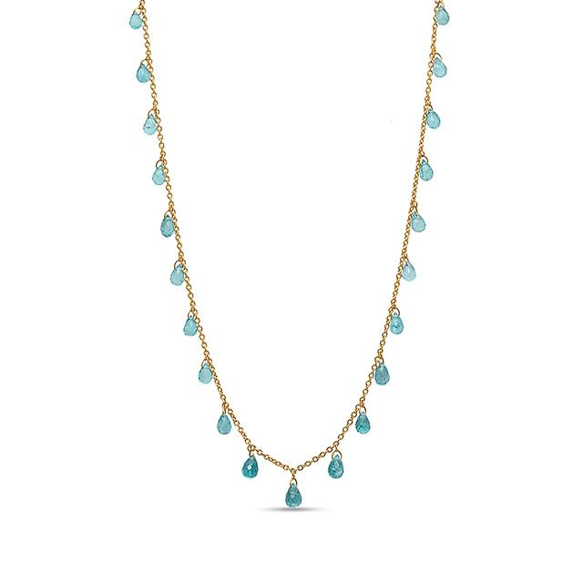 Swoonery-One-of-a-Kind Apatite Delicate Dew Necklace