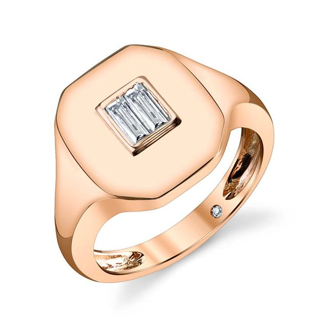 Swoonery-Baguette Essential Pinky Ring