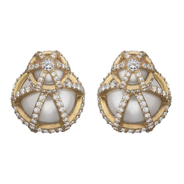 Swoonery-Sphaera Double Ball Earrings