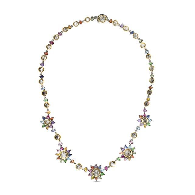 Swoonery-Multi Daisy Chain Necklace