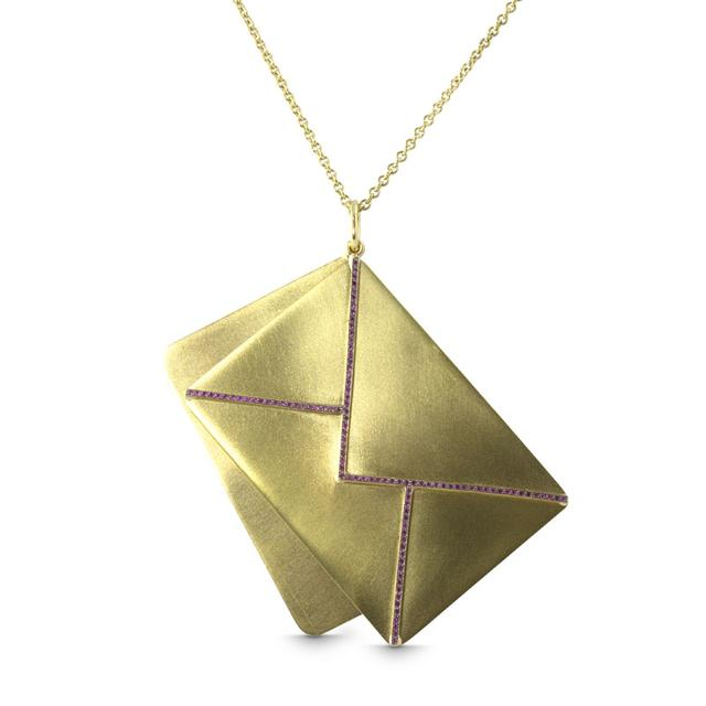 Swoonery-Eros Envelope Necklace