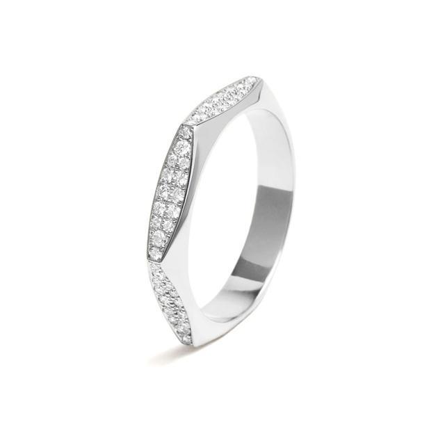 Swoonery-White Diamond Rhona Ring