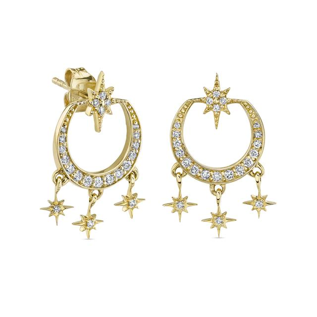 Swoonery-Starburst Chandelier Earrings