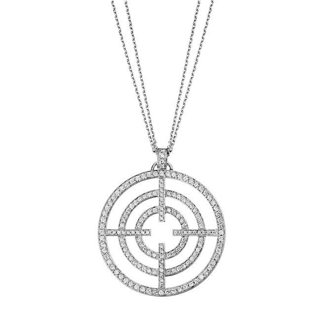 Swoonery-White Gold White Diamond License to Akillis Pendant