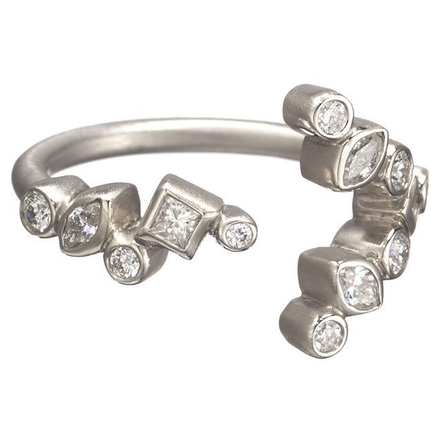 Swoonery-THROWING STONES OPEN DIAMOND RING