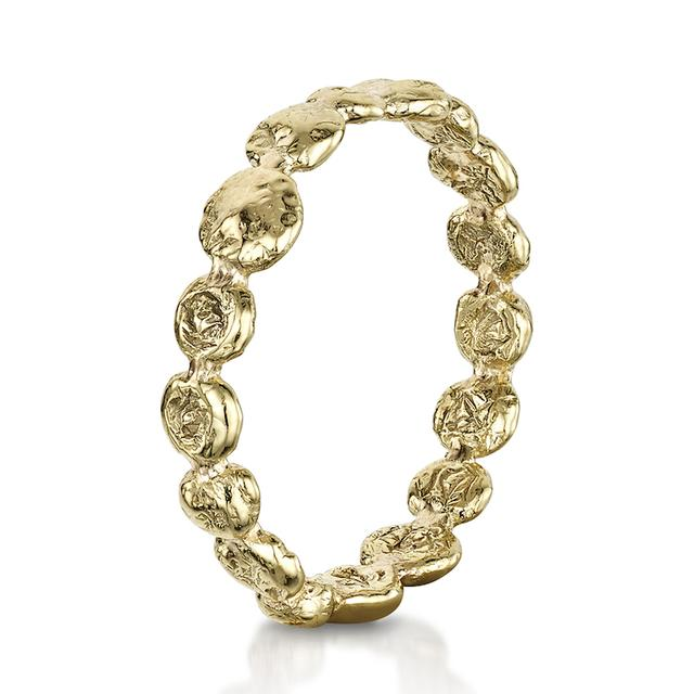 Swoonery-Coalescence Yellow Gold Band