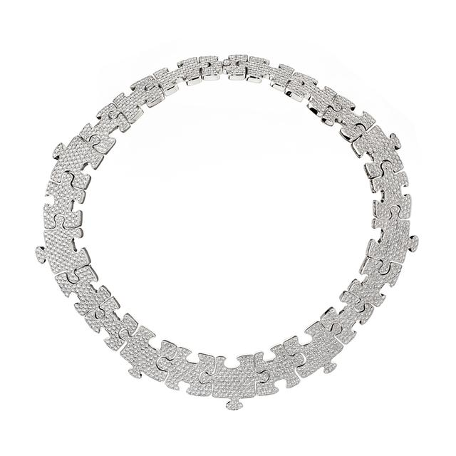 Swoonery-High jewellery puzzle necklace