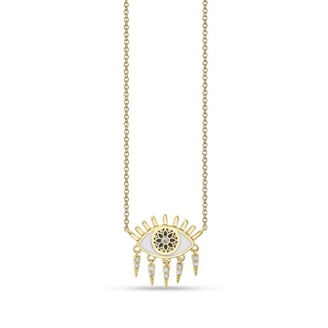 Swoonery-Small Kaleidoscope Eye Fringe Necklace