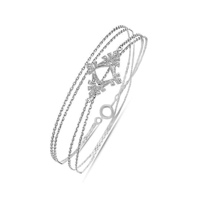 Swoonery-Twist Feather Bracelet