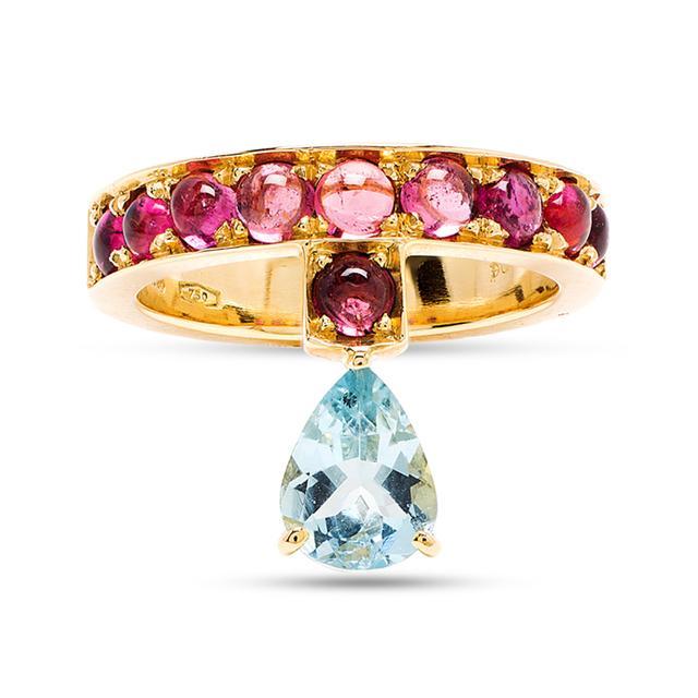 Swoonery-Aquamarine Theodora Ring
