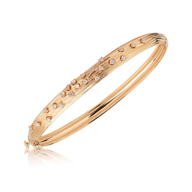 Swoonery-Rose Gold Plisse Bracelet
