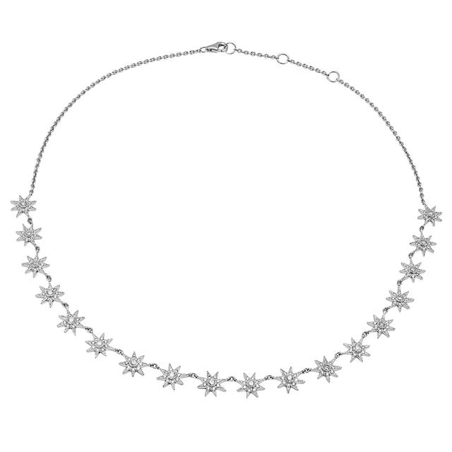 Swoonery-Glow Necklace with Grey Diamonds