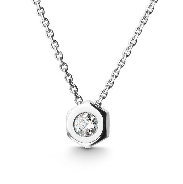 Swoonery-Diamond Small Nut Pendant