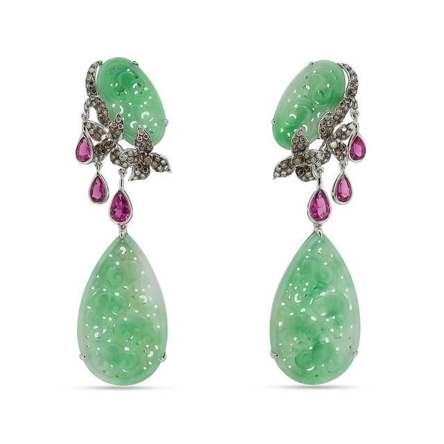 Swoonery-Jade Jungle Earrings
