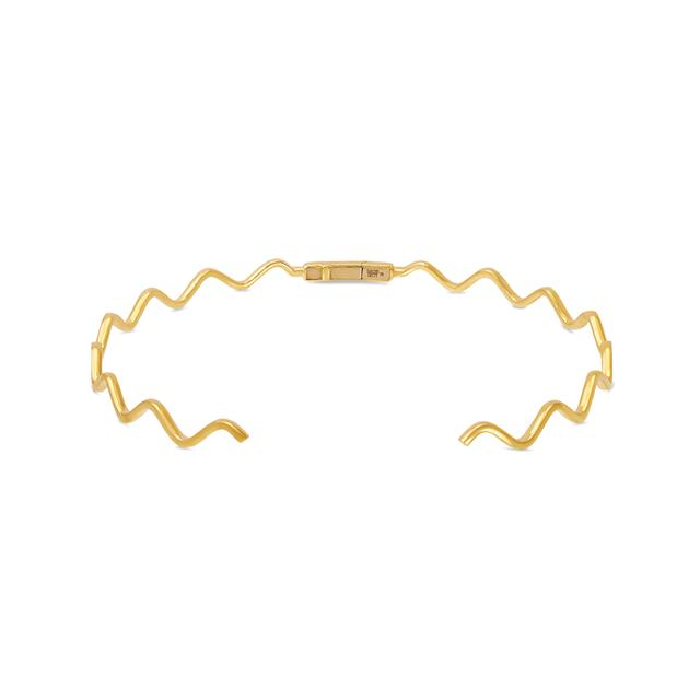 Swoonery-Yellow Gold Wave Choker