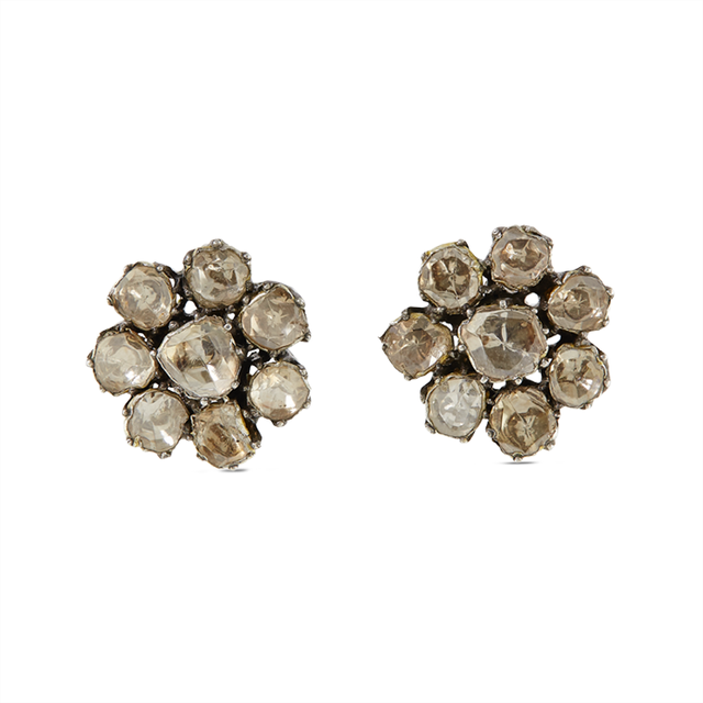 Swoonery-Gold and Silver Rich Diamond Studs