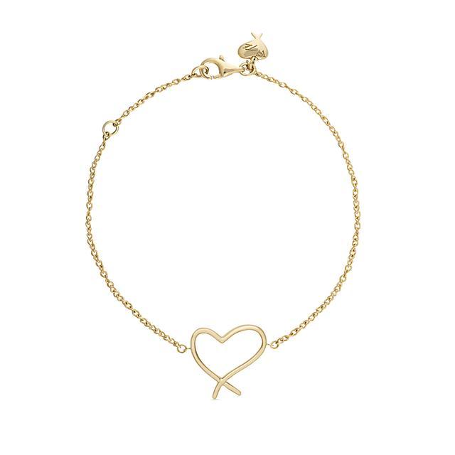 Swoonery-Heart Bracelet