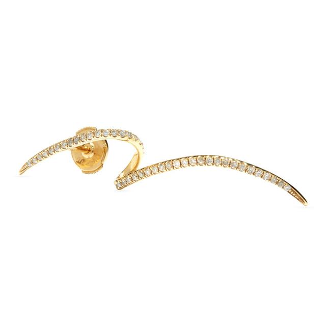 Swoonery-Tourbillon pave earring