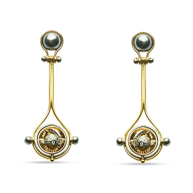 Swoonery-Yellow Gold Pluton Earrings