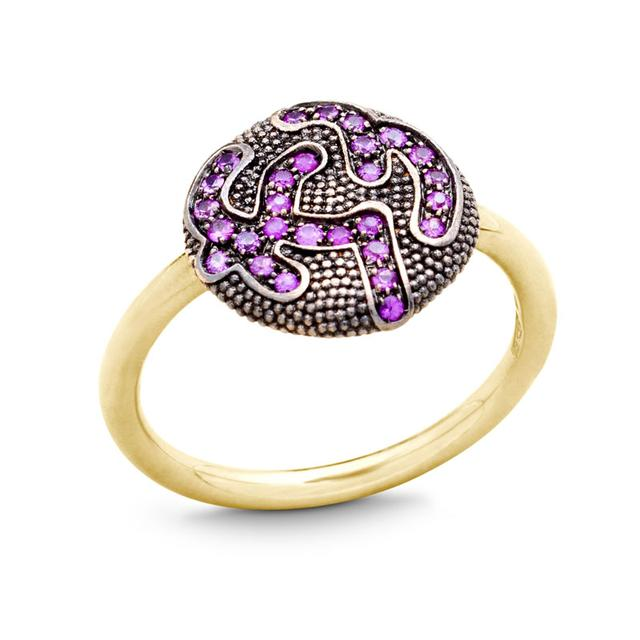 Swoonery-PINK SAPPHIRE RING